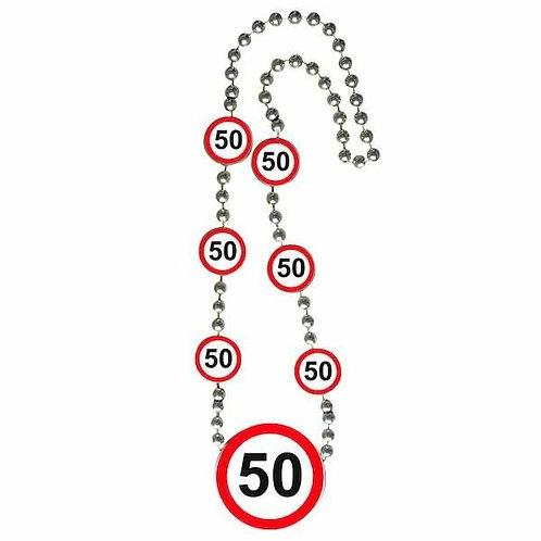 """Halskette Verkehrsschild """"50"""""""