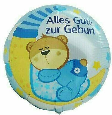 """Folienballon """"Alles Gute zur Geburt / Junge"""""""