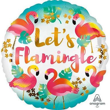 "Folienballon ""Let's Flamingle"""