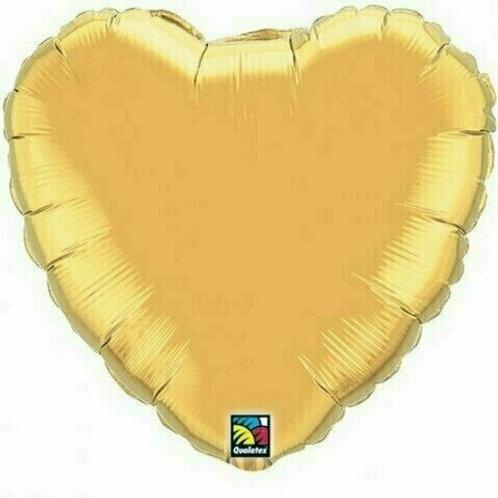 Herzballon, gold (unifarben)