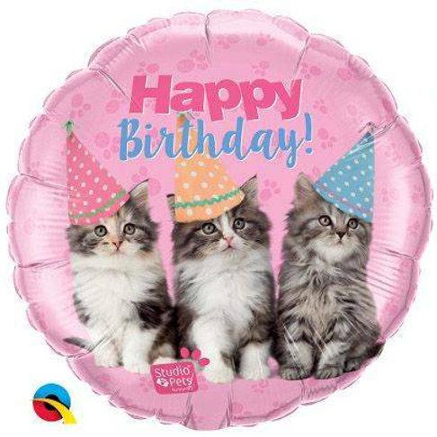 """Folienballon """"Happy Birthday Katzen"""""""