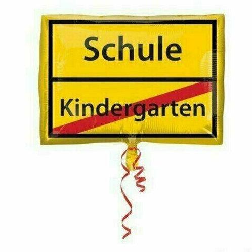 """JuniorShape-Ballon """"Schild Schulanfang"""""""