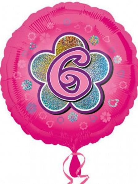 "Folienballon ""6"", pink"