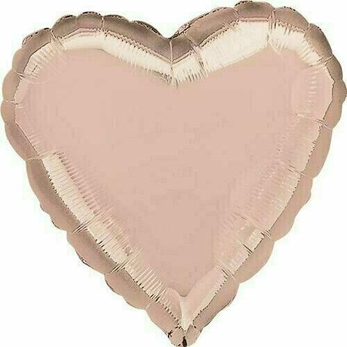 XXL Herzballon, roségold (unifarben)