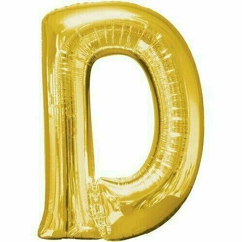 """Riesenbuchstabe """"D"""" - gold"""