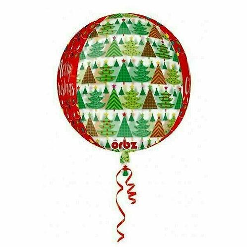 """ORBZ Folienballon """"Merry Christmas Weihnachtsbäume"""""""
