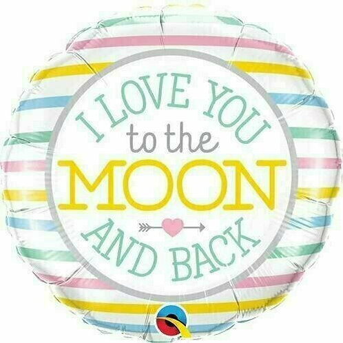 """Folienballon """"Love you to the moon and back"""""""