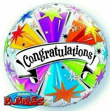 """Bubble Ballon (Stretchballon) """"Congratulations"""""""