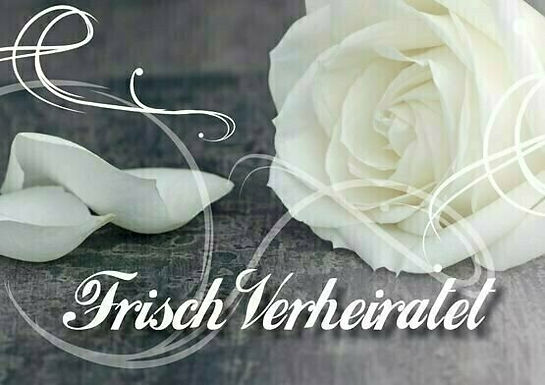 20er-Packung Weitflugkarten: Frisch verheiratet (Weiße Rose)