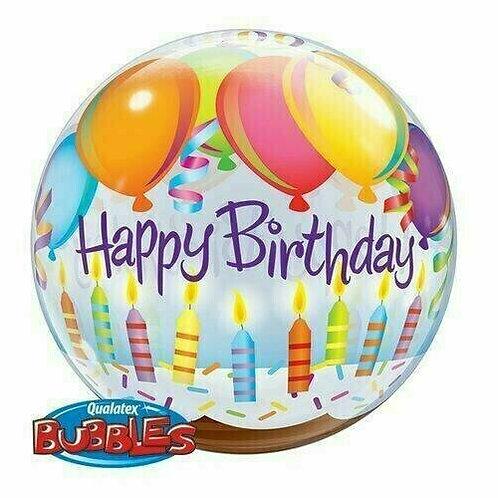 """Bubble Balloon """"Happy Birthday Kerzen und Ballons"""""""