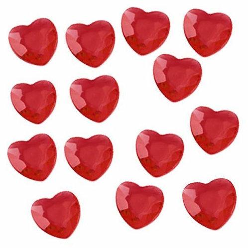 Deko-Diamanten, rote Herzen