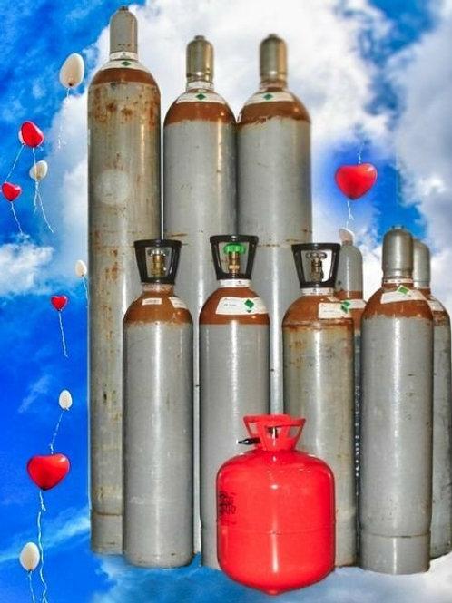 50l Helium (Ballongas) Druckgas-Mehrwegflasche für bis zu 500 Ballons Ø 28-30cm.
