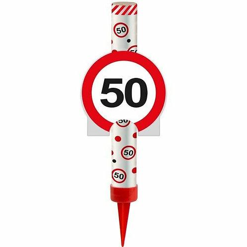 "Kuchen- oder Eisfontäne Verkehrsschild ""50"""
