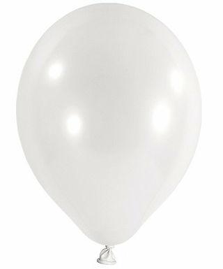 20 Latex-Ballons, Standardfarbe: weiß