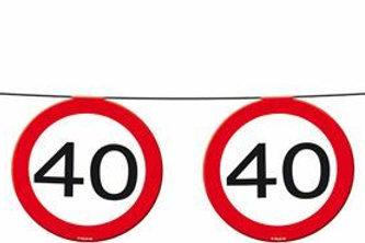 """Geburtstagsgirlande Verkehrsschild """"40"""""""