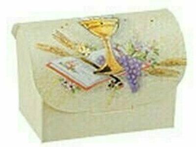Bonbonieren-Schachtel zur Kommunion/Konfirmation in creme, 10er Pack