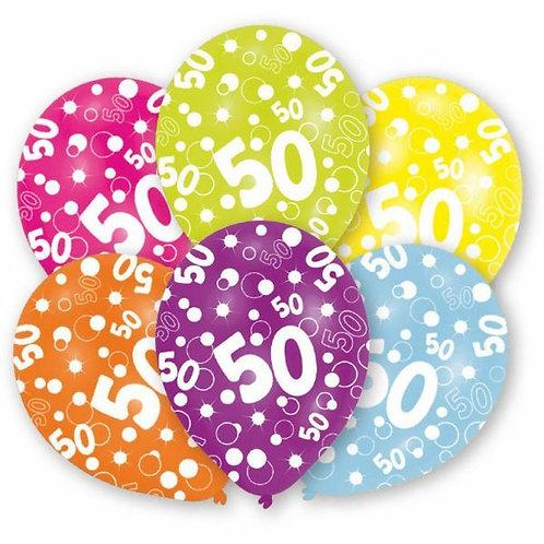 "Latexballons ""50"" bunt"