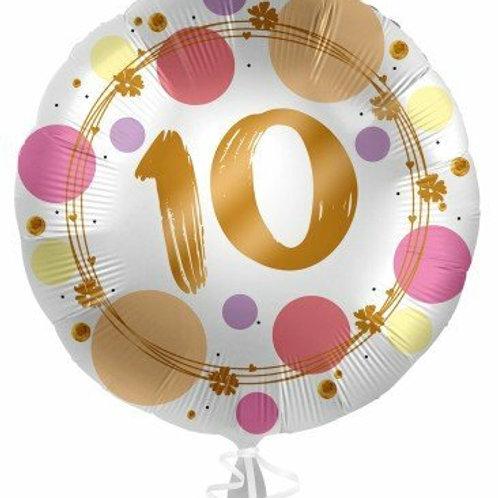 """Folienballon """"10"""""""