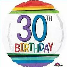 Dekoration zum 30. Geburtstag