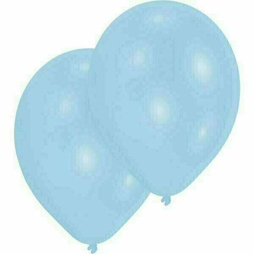 20 Latex-Ballons, Standardfarbe: hellblau