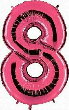 """Riesenzahl """"8"""" - pink"""