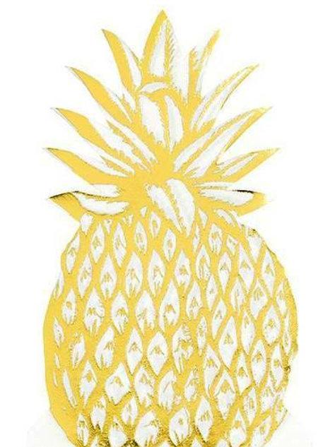 Form-Servietten Ananas