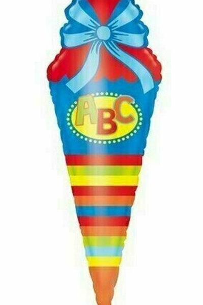 "XXL-Ballon ""Schultüte"" bunt"