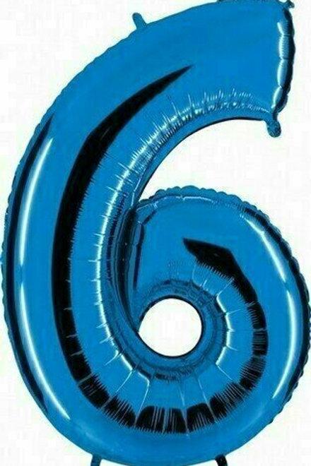 "Riesenzahl ""6"" - blau"