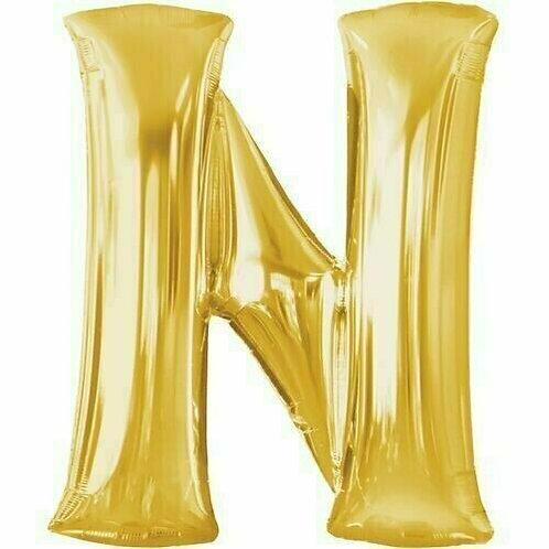 """Riesenbuchstabe """"N"""" - gold"""