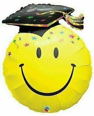 XXL-Folienballon Smiley mit Graduate-Hut