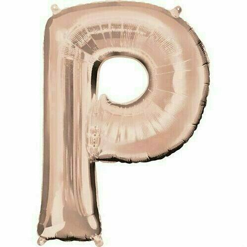 """Riesenbuchstabe """"P"""" - roségold"""