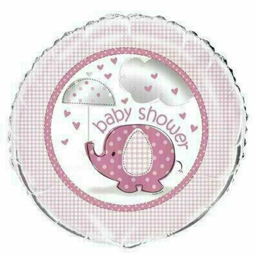 Folienballon Baby Shower / rosa