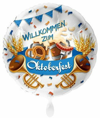 """Folienballon """"Willkommen zum Oktoberfest"""""""