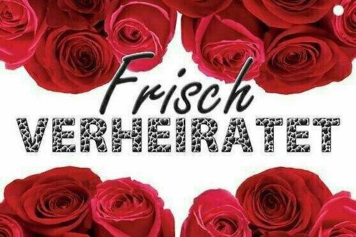 20er-Packung Weitflugkarten: Frisch verheiratet (Rote Rosen)