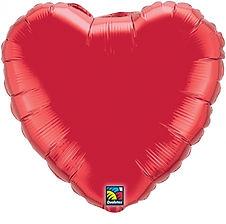Herzballons in verschiedenen Größen und Farben