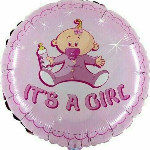 """Folienballon """"Schnuller-Baby Girl"""""""