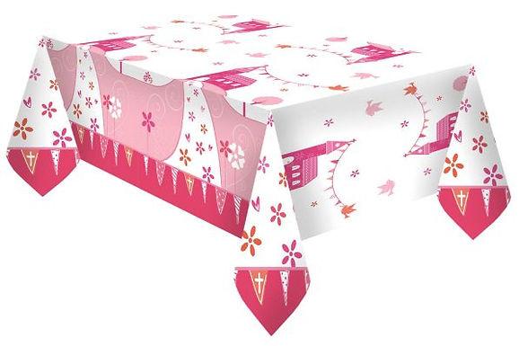 Tischdecke zur Erstkommunion, rosa