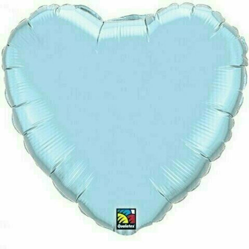 Herzballon, hellblau