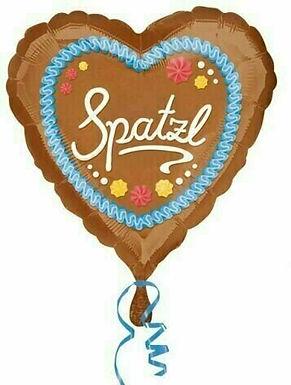 "Folienherzballon ""Spatzl"""