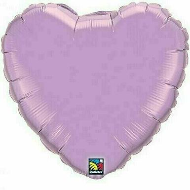 XXL Herzballon, flieder (unifarben)