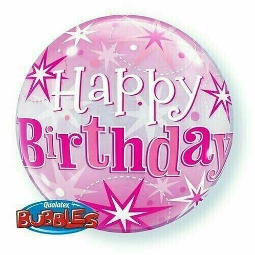 "Bubble Balloon ""Happy Birthday pink"""