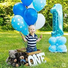 Dekorationszubehör zum 1. Geburtstag für Jungen.