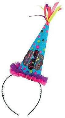 Haarreif mit Partyhütchen Happy Birthday