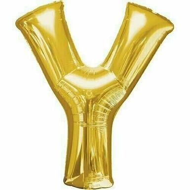 """Riesenbuchstabe """"Y"""" - gold"""