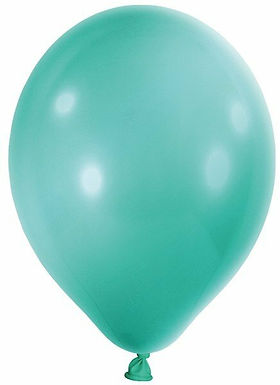 20 Latex-Ballons, Metallicfarbe: türkis