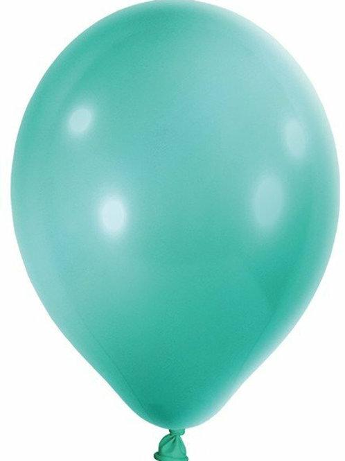 20 Latex-Ballons, Metallicfarbe: mint