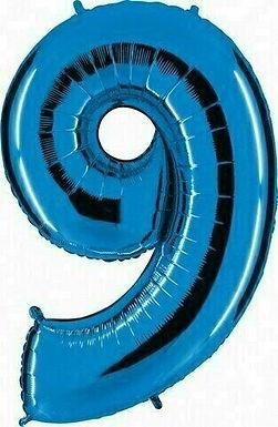 "Riesenzahl ""9"" - blau"