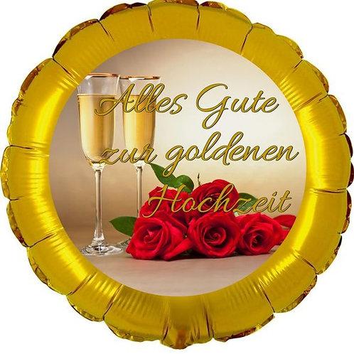 """Folienballon """"Alles Gute zur Goldenen Hochzeit"""""""