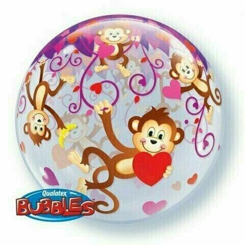 "Bubble Balloon ""Love Monkeys"""