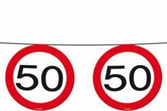 """Geburtstagsgirlande Verkehrsschild """"50"""""""